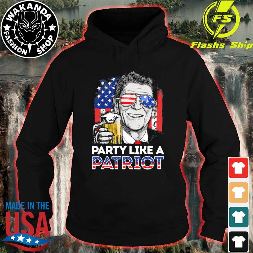 Reagan ronald party like a patriot 4th of july men women hoodie